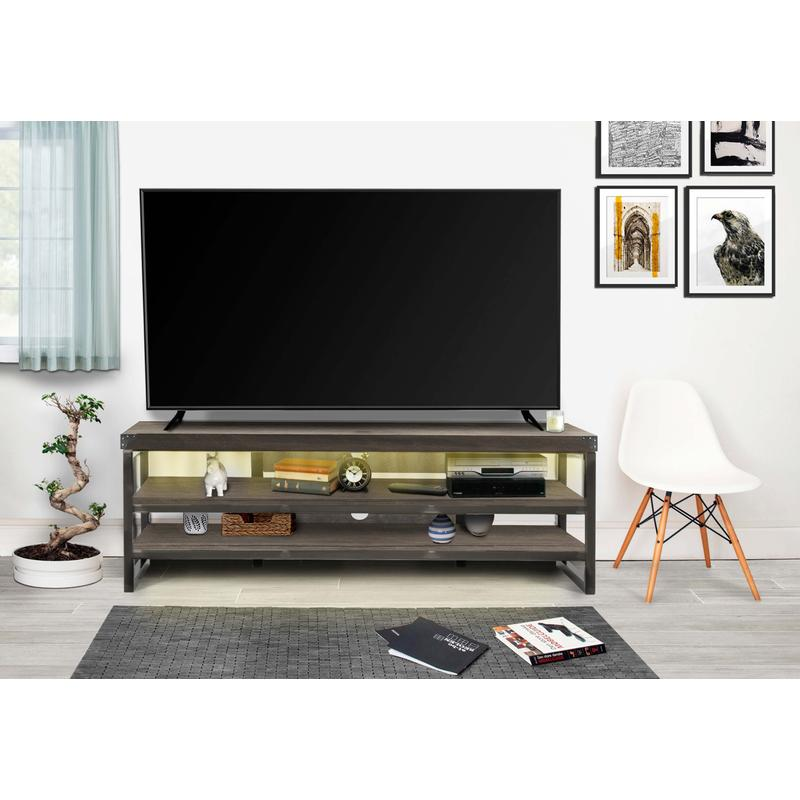 """View Product - Marlow 73"""" TV Stand - Bay Oak"""