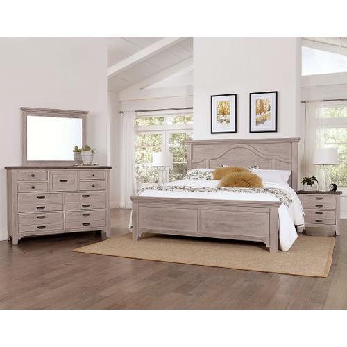 Vaughan-Bassett - Queen Bungalow Mantel Bed - Dover Grey Finish