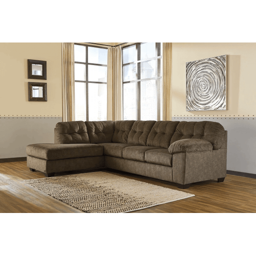 Accrington - Earth - 2-Piece Sectional with Left Facing Chaise and Queen Sleeper