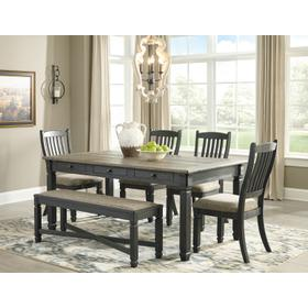Tyler Creek 6 Piece Dining Room Set Black/Gray