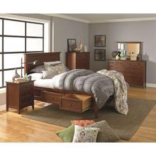 GAC McKenzie Queen Storage Bed Cherry Finish