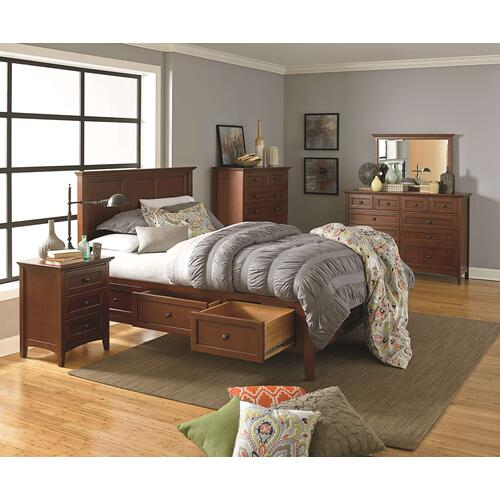 GAC McKenzie Queen Storage Bed Cherry Finish