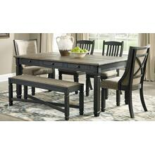 Sansa Regular Height Table Four Chairs and Bench