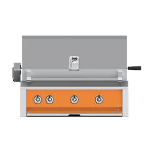 "Aspire By Hestan 36"" Built-In U-Burner, Sear and Rotisserie Grill NG Citra Orange"