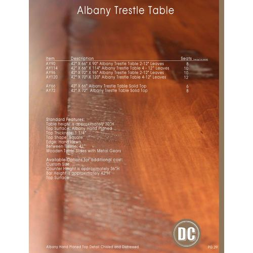 Door County Furniture - Albany Trestle Table
