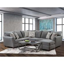 LANE 7058-03-7058-03LB Pacific Steel Sectional Chaise Sofa
