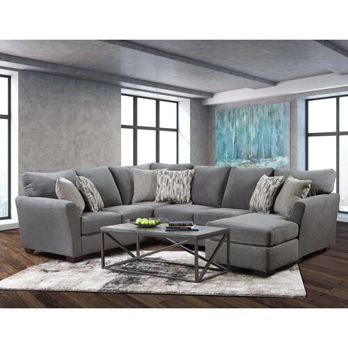 Lane Home Furnishings - LANE 7058-03-7058-03LB Pacific Steel Sectional Chaise Sofa