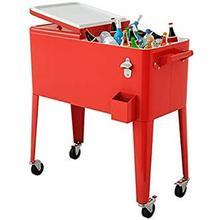 Red Cooler Cart