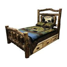 Queen Log Storage Bed