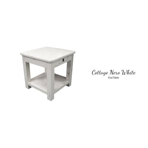Gallery - Cottage Nero White End Table