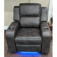 Charcoal Grey Power Head Rest Loveseat