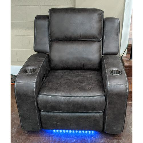 Cheers Brand - Charcoal Grey Power Head Rest Recliner