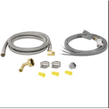 BRAIDED STAINLESS STEEL DISHWASHER INSTALLATION KIT, 6FT