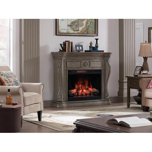 Lexington Infrared Electric Fireplace Mantel in Gray
