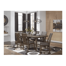 Kisper - Brown - 7 Pc. - Rectangular Table & 6 Side Chairs