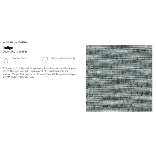 Laurel Chair & A Half IN Indigo   (655-411-c165986,44924)