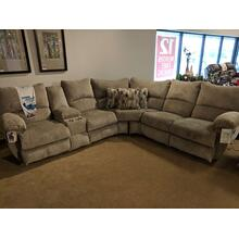 2 Piece Reclining Sectional w/Console