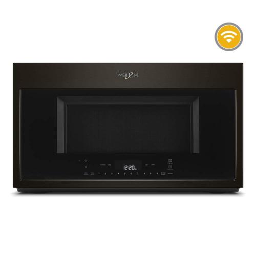 Whirlpool 1.9CF Black Stainless Steel Convection Over the Range Microwave