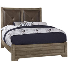 King Cool Rustic Stone Leather Bed