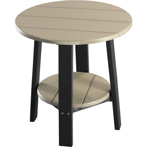 Deluxe End Table Weatherwood and Black