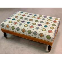 Custom Rectangle Ottoman in Leather/Fabric Combo-Floor Sample-**DISCONTINUED**