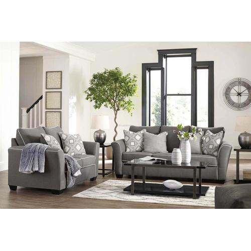 Ashley 985 Domani Charcoal Sofa and Love