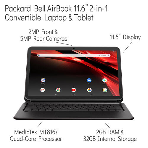 2-in-1 Convertible Laptop & Tablet