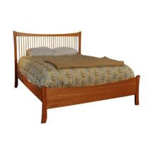 King Solid Natural Cherry Spindle Bed