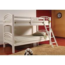 TWIN / TWIN WHITE BUNK BED