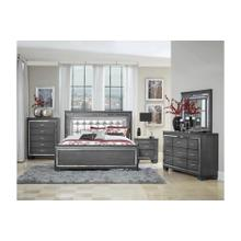 See Details - Allura- Gray Qn Bed, Dresser, Mirror and Nightstand