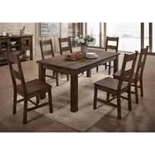 See Details - LIFESTYLE C6377D Tamilo Brown 5-Piece Dinette - Table And 4 Chairs