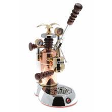 See Details - La Pavoni Esperto Edotto 16-Cup Espresso Machine, Chrome and Copper
