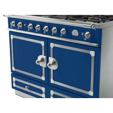 CornuFe 110 Dual Fuel Range -  Royal Blue with Stainless Steel and Satin Chrome Trim