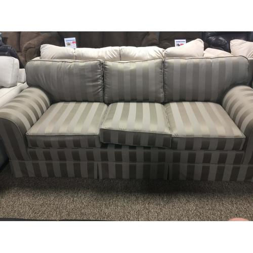 Modern Design Roll-Arm Fabric Sofa