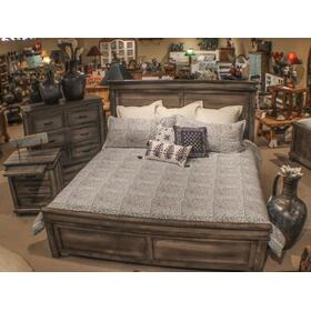Queen Bed Rustic Gray