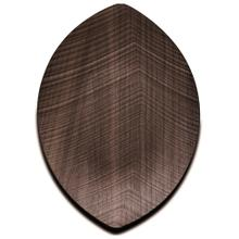 Legnoart Leaf Walnut Wood Small Serving Tray, 13 x 7.5-Inches
