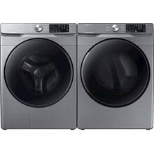 4.5 CF Front Load Washer, Steam - Platinum; 7.5 CF Electric Dryer, Steam Sanitize  - Platinum