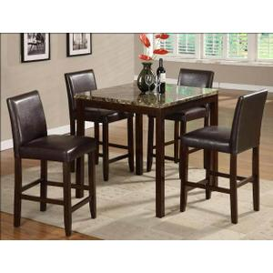 Anise 5pc Counter Height Dining Room Set