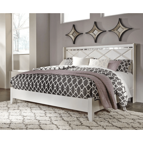 Dreamur- Champagne- King Panel Bed
