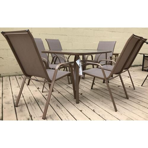 ID:207390 Cafe 7 piece high back dining set