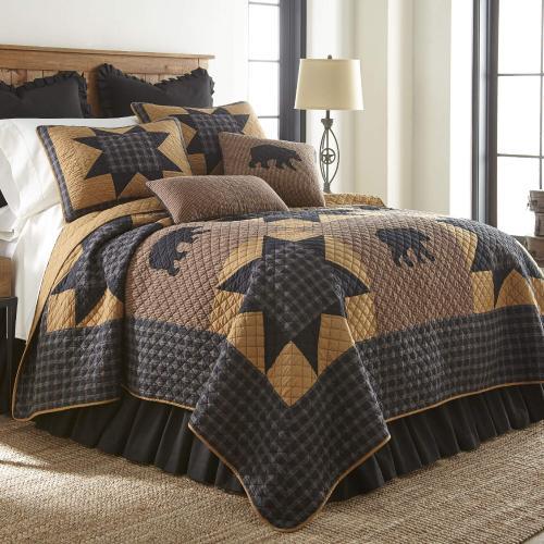 Bear Star King Quilt Set