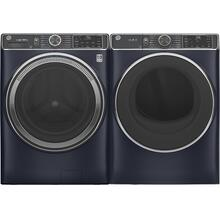 See Details - GE 5.0 Cubic Foot Front Load Laundry Set in Sapphire Blue