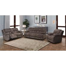VOGUE PX2905-03 PX2905-02C PX2905-01G Comet Chocolate Reclining Sofa, Reclining Console Loveseat & Glider Recliner Group