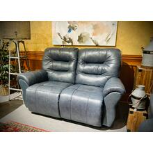 UNITY LEATHER SpaceSaver Reclining Loveseat in Steel       (L730CA4-71953-L,44902)