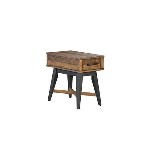 Urban Rustic Chairside Table
