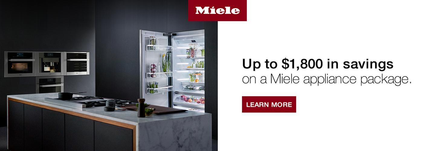 Save Up to &1,800 on a Miele Appliance Package