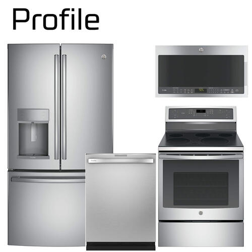GE Profile Series Deluxe 4-piece Stainless Steel Kitchen Package