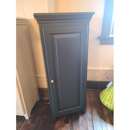 Archbold Furniture - Pine 1 Door Jelly Cabinet - Forest Green