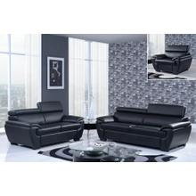 U4571-BL - Nat-Black - Loveseat