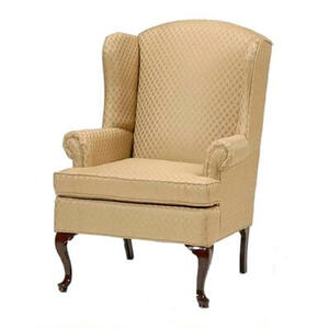 Wing Back Chair - Gold